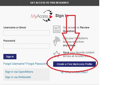 Setting up a Free MyAccess Profile